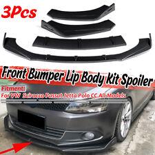 3x Carbon Fiber Front Bumper Lip Spoiler Splitters For VW Golf Passat Jetta Polo
