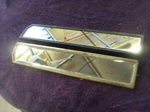 """Teens  ? 1920s ?  Carriage ? Carousel? Trolly Decorative 17"""" Mirrors - Very Nice"""