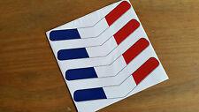 Francia Bandera Stripe francés Flecha X4 Racing Auto Adhesivo van Moto 10x2cm