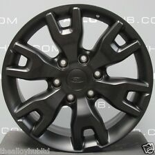 "GENUINE FORD RANGER WILDTRAK 18""INCH 6 TWIN SATIN/MATT BLACK ALLOY WHEELS X4"