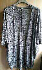 Lottie Loves Woman's Floaty Cardigan Two Shades Grey Size L 16/18 UK Preloved