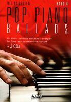 Klavier Noten : Die 40 Besten Pop Piano Ballads 4 (Balladen) - mittelschwer HAGE