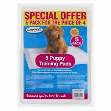 NEW Pack of 5 Dog Puppy Training Pads Absorbency Odour UK