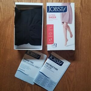New Jobst Ultra Sheer Pantyhose 30-40 mmHg Compression 121483 Classic Black  S