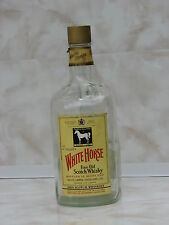 Large bottle White horse scoth whisky 1.75l liter used rare Scotland Glasgow