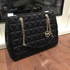 NWT MICHAEL KORS LARGE SUSANNAH LAMB LEATHER QUILTED CHAIN HANDBAG TOTE $498