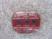 Gramophone Needle Tin EDISON BELL 'Double 25 Point Sympathic Chromic' & needle