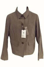J Uniqlo Brown Shiny Shirt Collar Cotton Jacket Size L UK 12/14