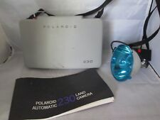 Polaroid 230 Land Camera w/ Case Manual & Flash