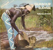 """ADAMA DRAME """"TAMBOUR DJEMBE"""" MANDINGUE AFRICAN LP 1983 AUVIDIS 4510"""