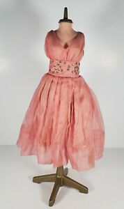 "Candy Fashion Doll 18"" Dress Form with Pink Rhinestone Studded Dress Vintage"
