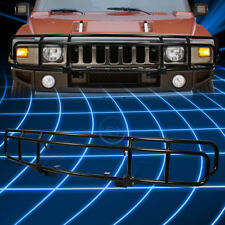 Stainless Steel Black Front Bumper Grille Guard Brush for 2003-2009 Hummer H2