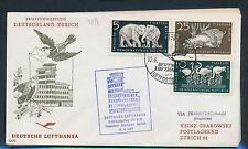 76898) LH FF Frankfurt - Zürich Schweiz 14.4.57, SoU ab DDR MiF Tiere Zoo
