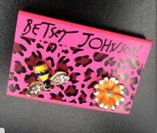 Betsey Johnsson Honey Bee and Flower  Earrings  GOLD Crystals Adorable