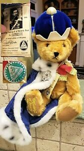 "18"" Hermann Coburg Jointed Limited Ed BEAR KING LUDWIG II of BAVARIA 132/500 TAG"