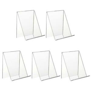 5 Pcs Acrylic Display Stand Clear Acrylic Holders for Displaying Books Artworks