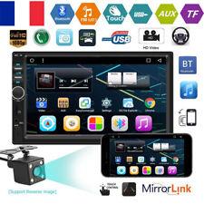 """7"""" Autoradio Double 2DIN Voiture Car Stéréo MP5 Player FM Radio AUX BT+Caméra"""