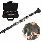 Professional Clarinet Set 17Key Wood Bb with Cleaning Cloth Reed Screwdriver Box