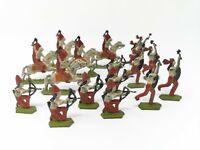 Antique Vintage Lead Native American Indians Toy Soldiers Horseman Archer Mohawk