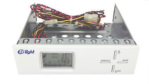 """NEW 5.25"""" PC Front Panel 4-Channel Automatic Fan Speed Controller w/ LCD Monitor"""