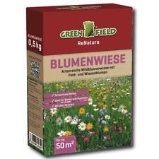 Greenfield Blumenwiese 500 g Blumen Wiese Samen Gras Kräuter Saatgut Rasen