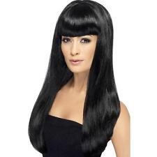 Womens Ragazze Nero Parrucca BABELICIOUS tangente lunga Frangia Katy Perry tintura dei capelli