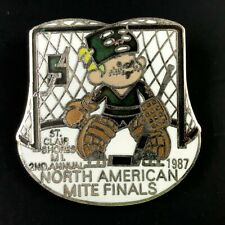 VTG Ice Hockey Pin St.Clair Shores ML North American Mite Finals 1987 2nd Annual