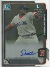 Simon Mercedes Boston Red Sox 2015 Bowman Chrome Autograph