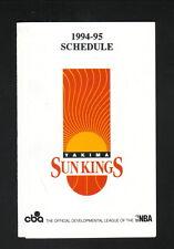Yakima Sun Kings--1994-95 Pocket Schedule--Rainier Ice--CBA
