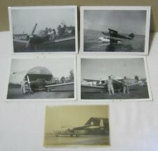 Vintage Photos CQ 738 Troop Carrier Airplanes at Airport Hanger  T*
