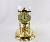 Vintage Kundo Black Forest 400 Day Anniversary Clock w/Key ~ For Shelf or Mantel