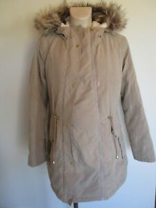 GEORGE MATERNITY & BEYOND STONE QUILTED PARKA JACKET COAT SIZE L UK 16-18 BNWT
