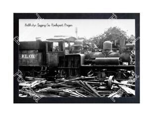 HISTORIC BALDRIDGE LOGGING Co. REEDSPORT, OREGON TRAIN POSTCARD