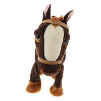 Elektronisches wandelndes Pferd an der Leine Plüschtier Kuscheltier