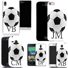 PERSONALISED INITIALS CASE FOR IPHONE MODELS - white football MONOGRAM