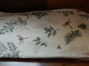 """Kingsway Upholstery Fabric """"Meadowbrook"""" Dragonfly Bees Butterflys 56 x 104"""