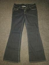 Girl Express Dark Blue Stretch Bootleg Jeans Sz 16 AS NEW - Broken zip