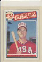 1985 Topps Mark McGwire #401 RC Baseball Card Team USA