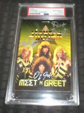 Stryper signed autographed psa slabbed backstage pass 80's Metal Christian