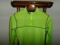 UNDER ARMOUR Small Reactor ColdGear 1/4 Zip Fitted Neon Limeon -FAST SHIP-