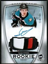 2018 19 UD The Cup Sam Steel Auto Patch Rookie Rc /249 3 Colors