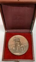 1891 Vaud Switzerland Bronze Shooting Festival Medal R1584d in Case