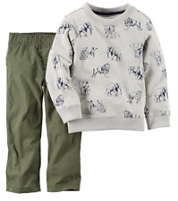 Carter's Baby Boys' Long-Sleeve Animal Shirt & Pants Set, Size 6 Months,MSRP $24