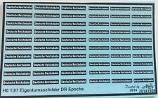 Deutsche Reichsbahn Eigentumsschilder schwarz/weiß Decals 1:87 oder H0