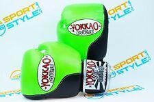 YOKKAO Double Impact Green/Black Muay Thai Boxing Gloves 10oz Taekwondo Kickbox