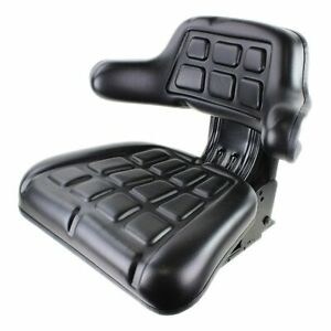 Quality Tractor Suspension Seat Wrap Around - Black PVC Adjustable Angle Base