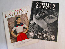 Vintage 1945 Doreen Vol. 91 Two Needle Mittens/ 1948 Woman's Day Knitting Annual