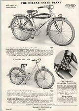 1937 PAPER AD Deluxe Royal Schwinn Cycle Plane Cycleplane Bicycle Cycelock