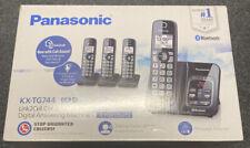 Panasonic KX-TG744 Link2Cell Cordless Bluetooth Landline Phone 4 Handsets