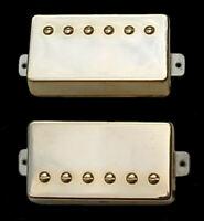 Guitar Parts GUITARHEADS PICKUPS - ALNICO SUPREME PAF - HUMBUCKER SET 2 - GOLD